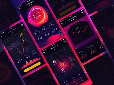 Fit App fitness app design ux design ui design fit app