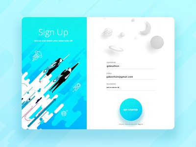 Sign Up mobile user experience sign up ui ux modal cards daily ui
