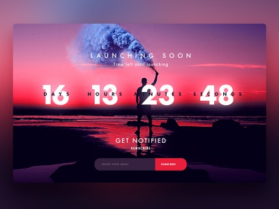 Countdown Timer uitrends dribbbler designinspiration appdesign webdesign graphicdesign uidesign uxdesign design landingpage countdowntimer dailyui