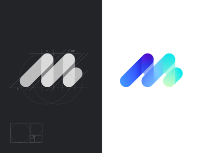 M logo concept app logo app vivid colors logo gradient m logo ui logo monogram uidesign designinspiration design vector branding digital logo logotype design