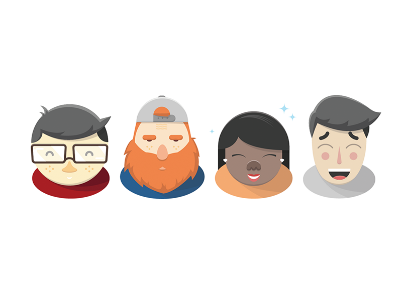 Whatever whatever character design avatar illustration icon smile face hair dude