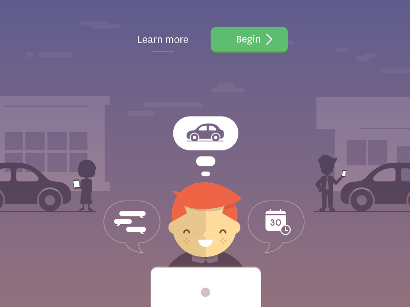 Purp illustration people car building icon cloud button ui