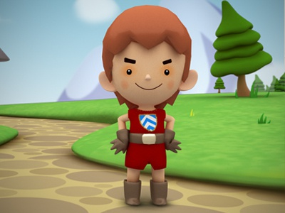 Lil' Kay 3D 3d character design illustration tale merlin kids