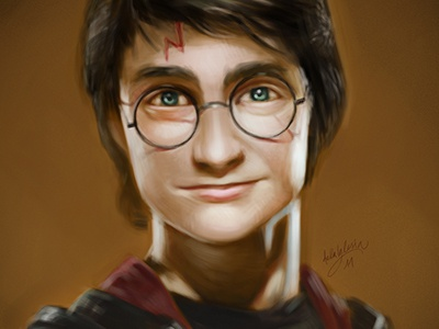 Potter illustration character design portrait harry potter digital painting speed painting