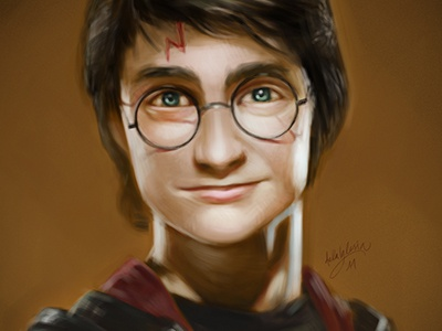 Potter illustration character design portrait harry potter digital painting speed painting
