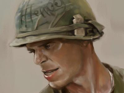 Soldier illustration soldier portrait digital paint sketch