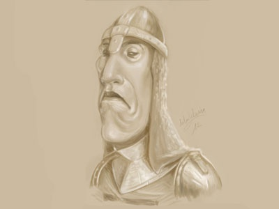 Knight doodle sketch speed painting painter illustration medieval knight