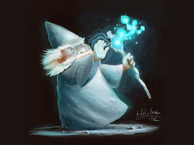 Wizard wizard illustration doodle speed painting sketch