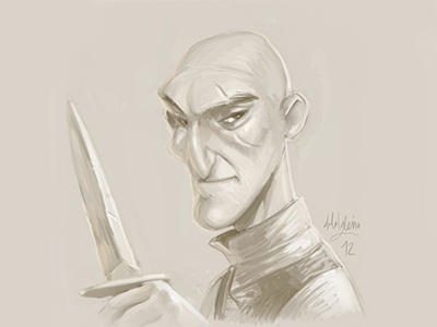 The Assassin concept doodle speed painting drawing illustration assassin