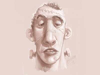 Frank sketch doodle illustration speed painting cocomatic