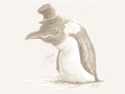 Penguin sketch penguin sketch doodle speed illustration