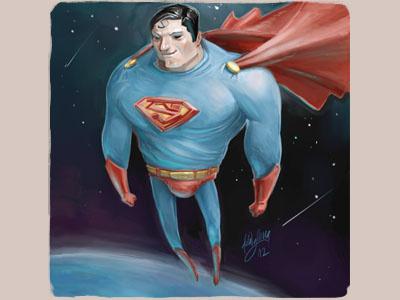 Superman illustration superman doodle sketch de la iglesia cocomatic
