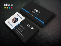 Free Business Card green elegant cyan creative corporate clean style card design business card business blue black