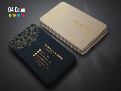 Free Luxury ornamental Business Card
