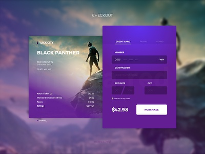 Checkout 1 marea red mareared form ecommerce black panther checkout daily ui