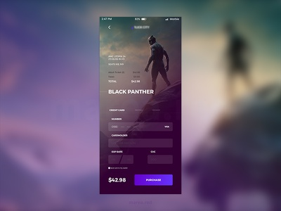 Checkout 2 marea red mareared form ecommerce daily ui checkout black panther