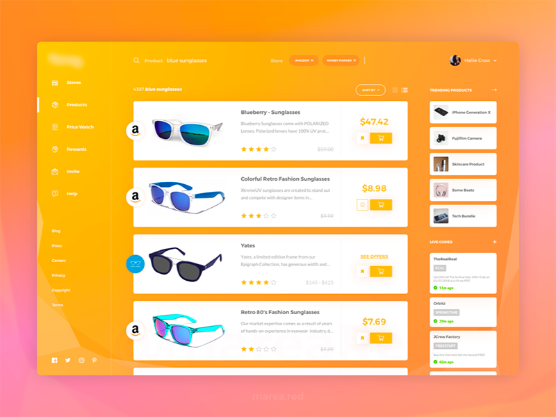 Dribbble Shot: Search Results