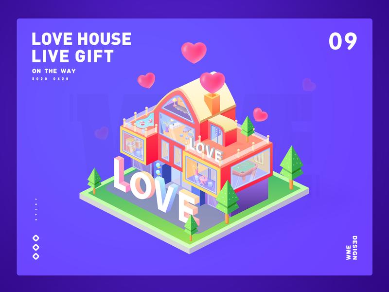 Love House-Live gift affinity designer bei jing 2.5d love house ildiesign branding gift live design wme illustration