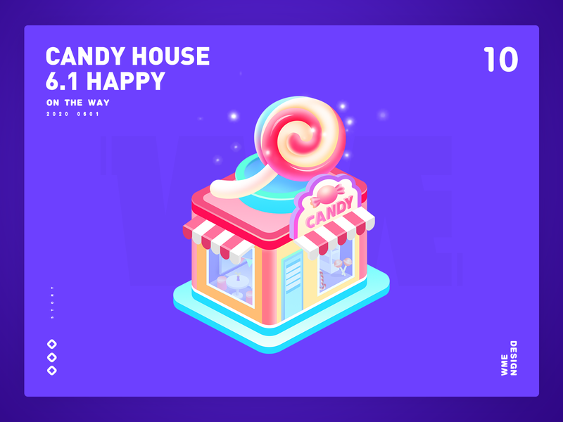 Candy House-Live gift animation 2d animation 2.5d house gift live gift 61 design candy illustration affinity designer
