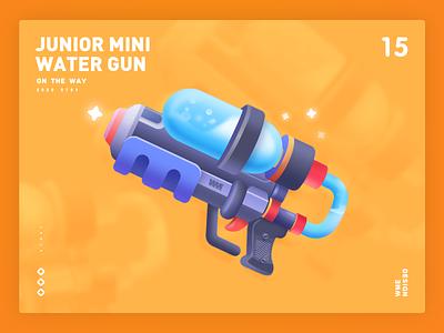 Mini Water Gun-Live gift design wme game gift live gift live water gun water gun guns iilustration branding affinity designer