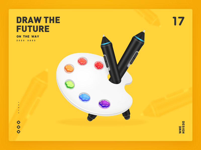 Draw the future palette colour art design wme illustration affinitydesigner