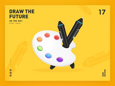Draw the future palette colour art design wme illustration affinitydesigner