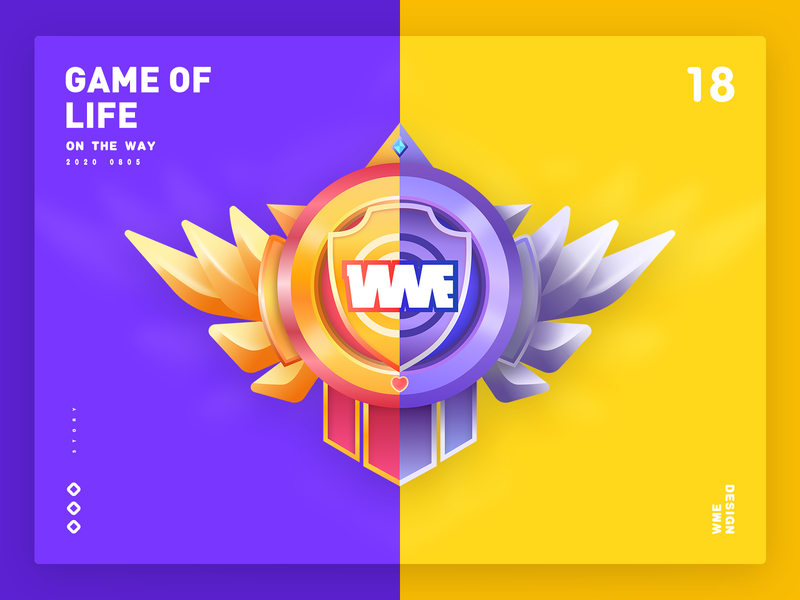 Game of Life bronze gold badge design wme illustration affinity designer