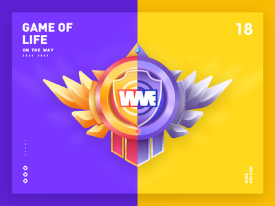 Game of Life bronze gold badge design wme illustration affinity designer