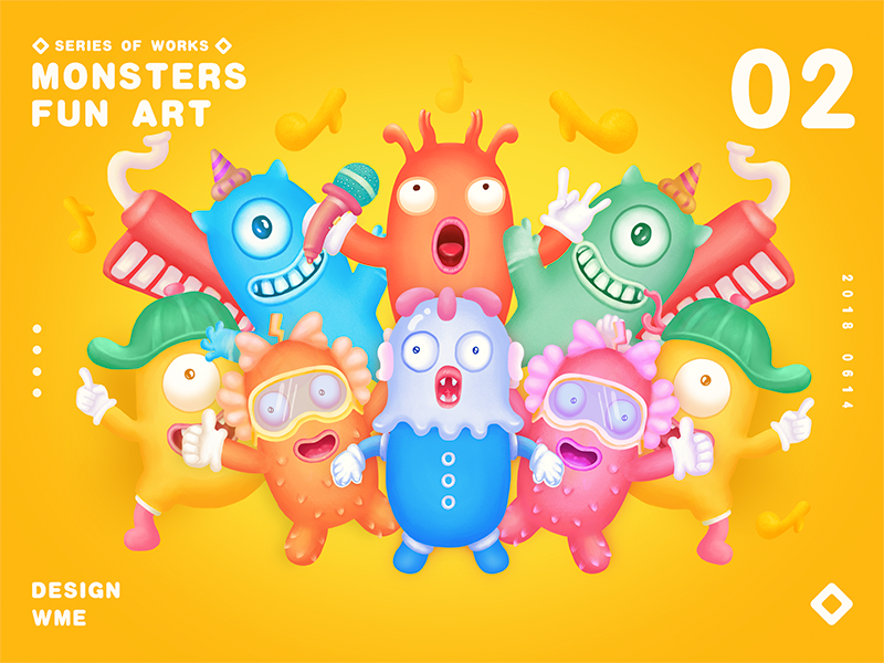 MONSTERS 02 wme illustration