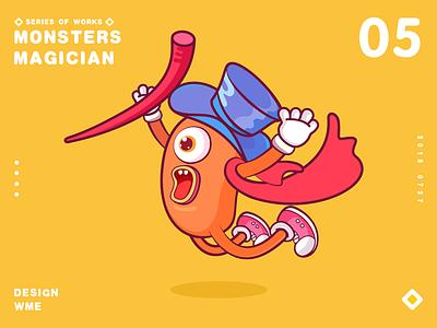 Monster series-05 Magician wme illustration