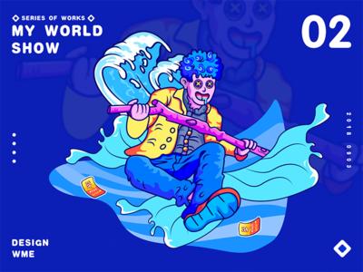 my world-02 show ildiesign iilustration logotype logomark logo branding wme illustrator