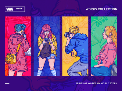 story02(my world-2018) werewolf animation game icon page ui red app design web logotype image ildiesign iilustration logomark logo illustrator branding illustration wme