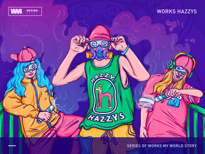 HAZZYS -Street tide, colorful fantasies website icon ui start ux page app red image game design logomark web ildiesign iilustration logo illustrator branding illustration wme