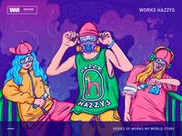 HAZZYS -Street tide, colorful fantasies