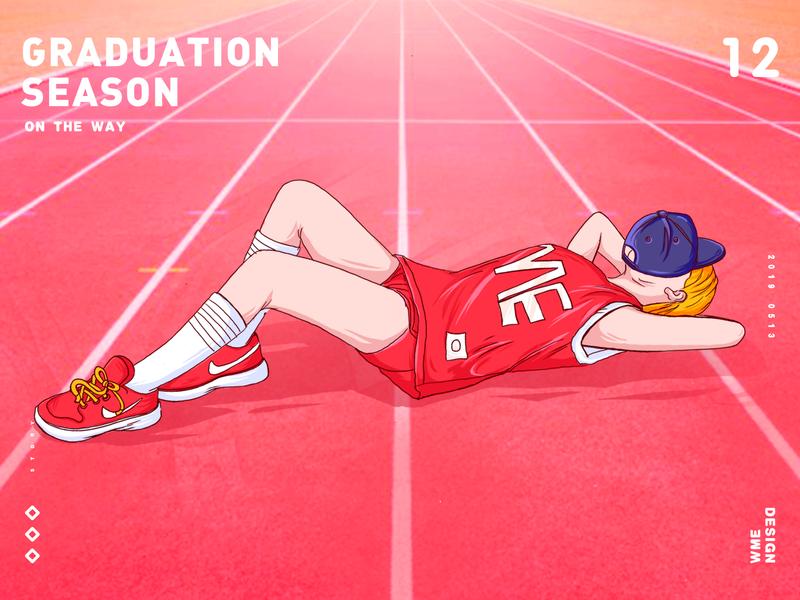 Graduation season website animation icon typography logotype start app ui red image web design ildiesign iilustration logomark logo illustrator branding illustration wme