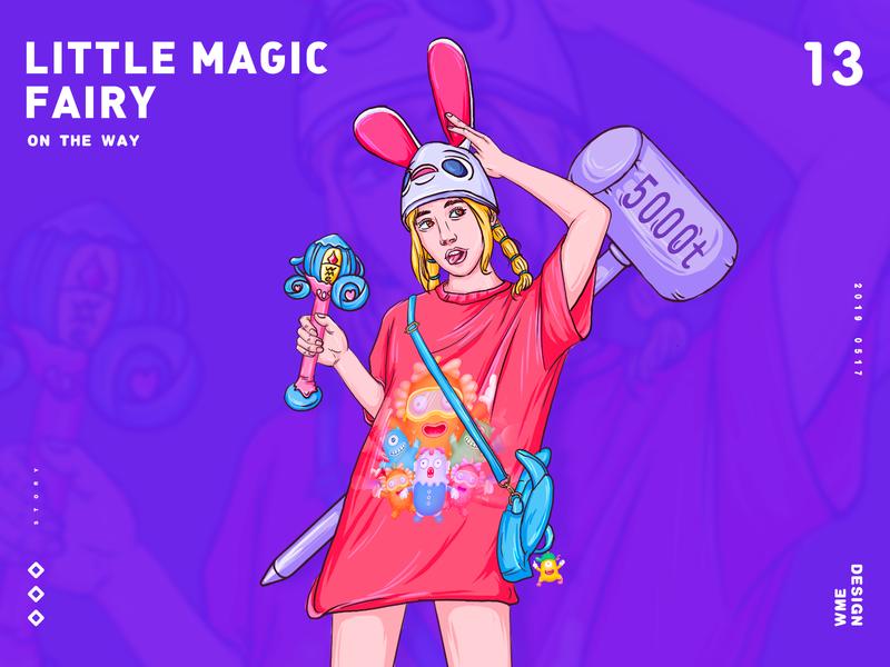 Little magic Fairy ux page website werewolf icon logotype web app red ui image design ildiesign iilustration logomark logo illustrator branding illustration wme