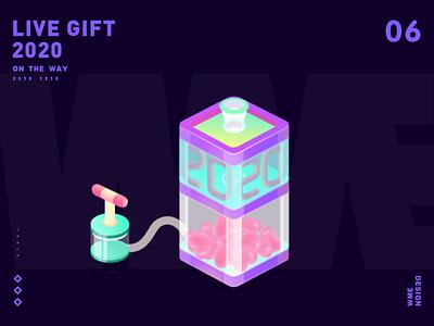 2020-LIVE GIFT design love live gift wme 2020 illustration affinity designer