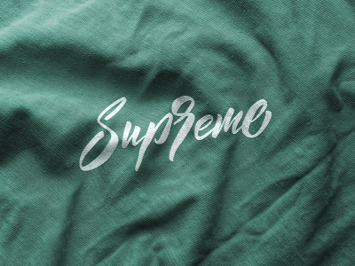 Supreme lettering logo clothes label handlettering supreme cloth apparel packaging clothing fashion mark script typography brush design branding hand lettering logotype logo calligraphy lettering