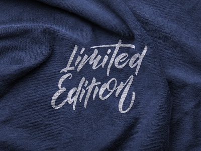 Limited Edition lettering logo design limited edition label handlettering apparel sketch packaging clothing fashion mark script typography type brush design branding hand lettering logotype logo calligraphy lettering