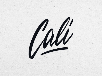 Cali lettering logo design label handlettering california cali apparel packaging clothing fashion mark script typography type brush design branding hand lettering logotype logo calligraphy lettering