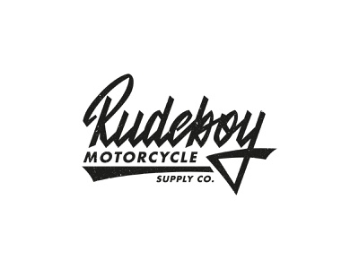 Rudeboy lettering logo handlettering label motorcycle supply apparel clothing fashion mark script typography type brush design branding hand lettering logotype logo calligraphy lettering