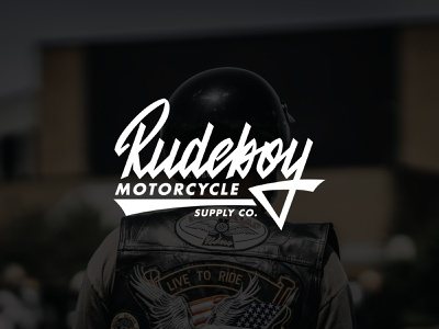 Logo for motorcycle supply company biker supply motorcycle streetwear identity apparel clothing fashion mark script typography type brush design branding hand lettering logotype logo calligraphy lettering