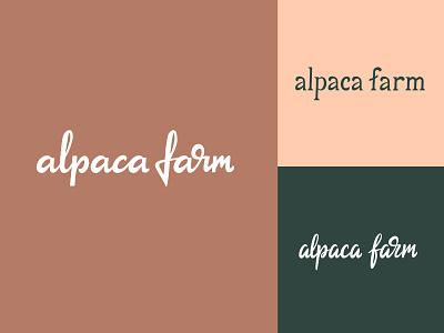 Alpaca farm lettering logo farm logo alpaca farm identity packaging script typography type brush design branding hand lettering logotype logo calligraphy lettering