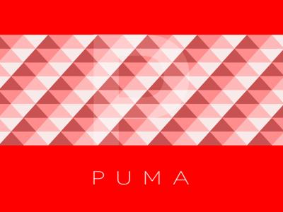 Puma Concept type illustration geometric branding logo pattern background