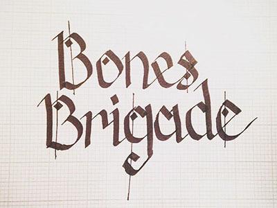 Bone Brigade illustration type lettering handlettering