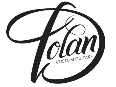 Dolan Custom Guitars Branding typography type lettering brush lettering hand lettered logo