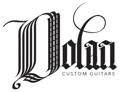 Dolan Custom Guitars typography type lettering brush lettering hand lettered logo