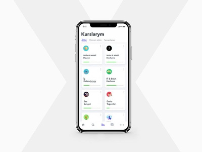 "''Kurslarym"" courses app in turkmen language orazgeldiyev turkmen-language app-design aman-ilyasovich"