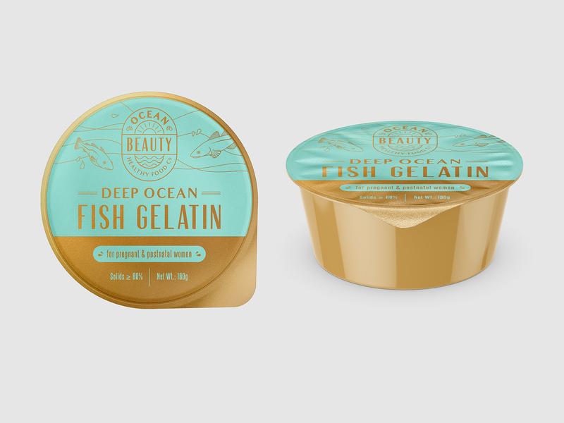 Jar pregnant sea ocean woman monoline jar gelatin fish illustration drawing