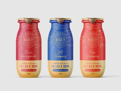 Bottles berry fruit monoline label drink organic drawing illustration collagen